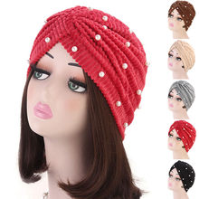 KANCOOLD Fashion Women India Africa Muslim Turban Cap Baggy Warm Hat Skull Crochet Winter Ski Beanie Skull Slouchy Caps PJ0913(China)