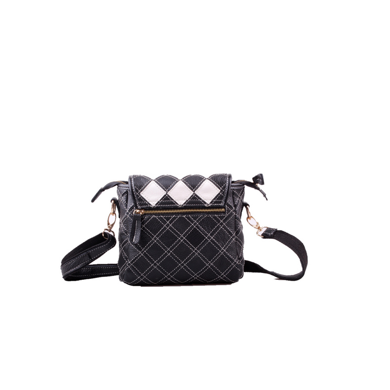 Genuine Leather Women's Shoulder Bag Fashion Patchwork Plaid Women Cross Body Bags Colorful Tote Lady Messenger Bag-in Top-Handle Bags from Luggage & Bags    3
