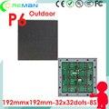 Melhor preço estoque p6 cor cheia ao ar livre levou módulo de tela/placa de publicidade comercial levou ao ar livre módulo p4 p5 p6 SMD3535