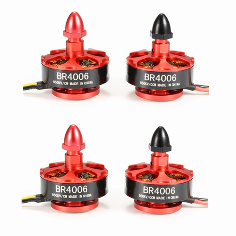 ФОТО High Quality 4PCS/lot Racerstar Racing Edition 4006 BR4006 950KV 3-4S Brushless Motor For 600 650 700 800 RC Frame Kit