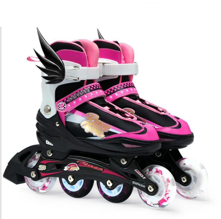 Pro Quality Roller Skates Shoes Cotton Fabric Full set Adult Breathable Roller Skate Skating Shoes with Shinning Wheels roller skates yellow genuine leather with led lighting wheels double line skates adult 4 wheels two line roller skating shoes
