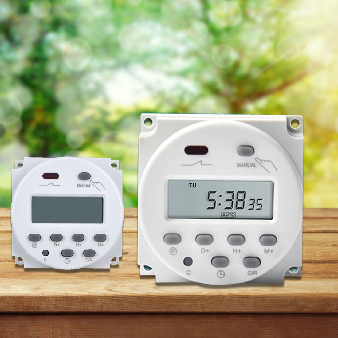 AC 220V Digital LCD Power Timer Programmable 7.5VA Time Switch Relay 16A timers CN101A timer