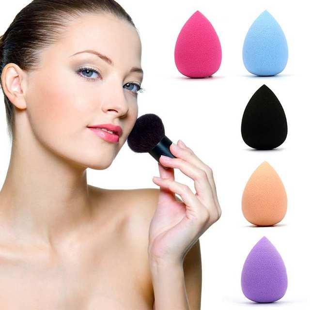 5 unidades/pacote Suave Suave Maquiagem Esponja Mixer Sopro BB Creme Maquiagem Tool com Waterdrop & Cabaça em Forma para As Mulheres de Beleza ferramentas de maquiagem