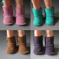 1pcs Mini Doll Shoes Accessories 7cm Sheepskin Boots For BJD Doll Toy for 1/4BJD &16 Inch 40cm Sharon doll Boots & Tilda doll