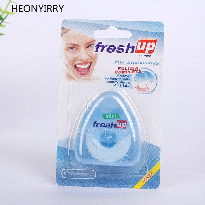 Schönheit & Gesundheit Mundhygiene Schneidig 50 M Dental Flosser Micro Wachs Mint Geschmack Interdentalbürste Zähne Stick Zahnstocher Zahnseide Oral Hygiene Sauber Draht Zähne Bleaching