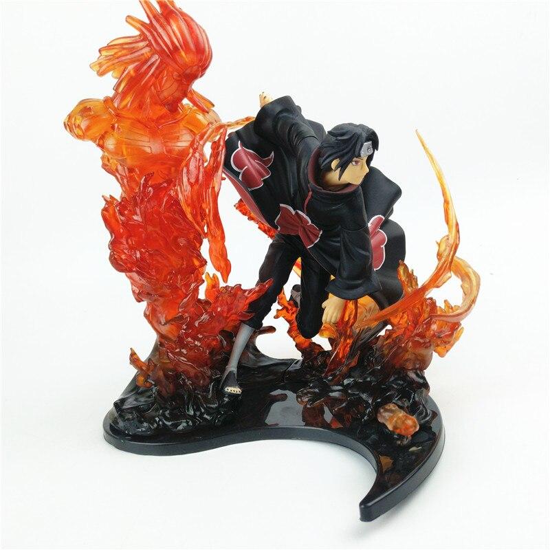 Anime Naruto Action Figure – Zero Uchiha Itachi Fire Sasuke Susanoo   23cm