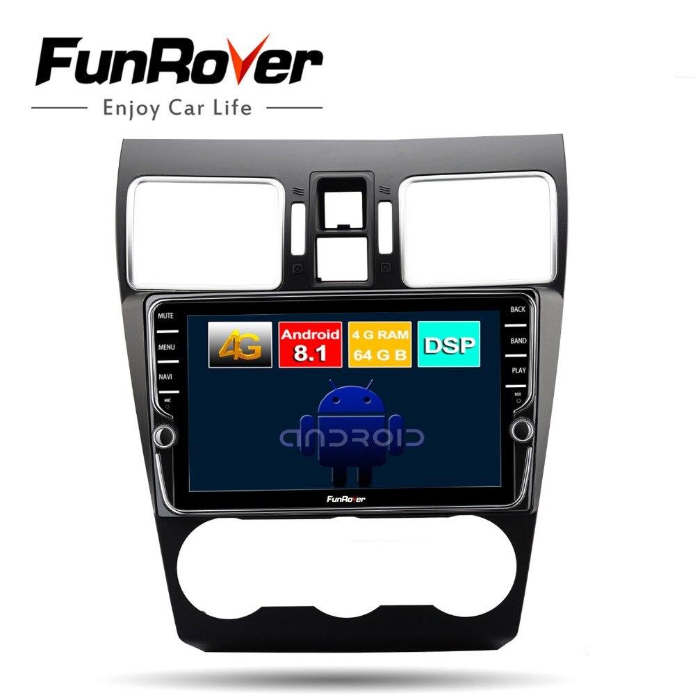 Funrover octa base android 8.1 dvd de voiture lecteur multimédia Pour Subaru Forester XV WRX 2012-2018 radio gps 4G + 64G écran divisé DSP
