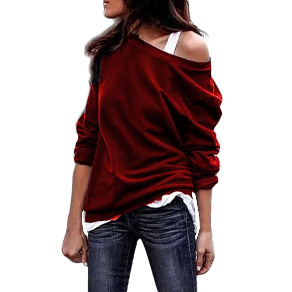 Top Plus Size Women Long Sleeve V-neck S