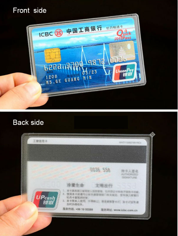 protective transparent plastic sleeve for the pvc business cards ...