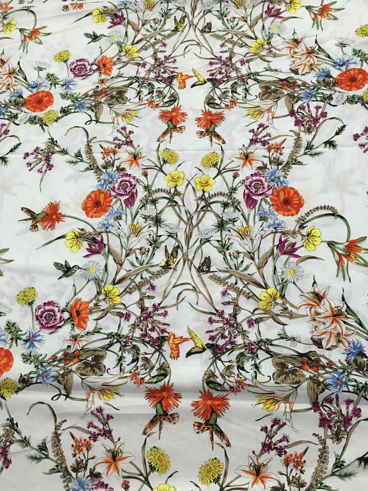 Ткань с цветочным принтом, 100% хлопок ткань под женское платье рубаху, Винтажные Цветы хлопчатобумажная ткань для одежды шитье «сделай сам» материал
