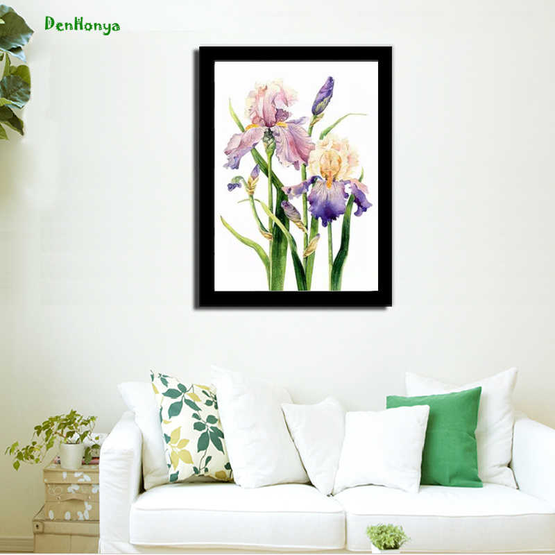 Modern Country Minimalist Mosaic Flower Art Print Poster Mural Drawing Cloth Painting Living Room Bedroom Home Decor D142