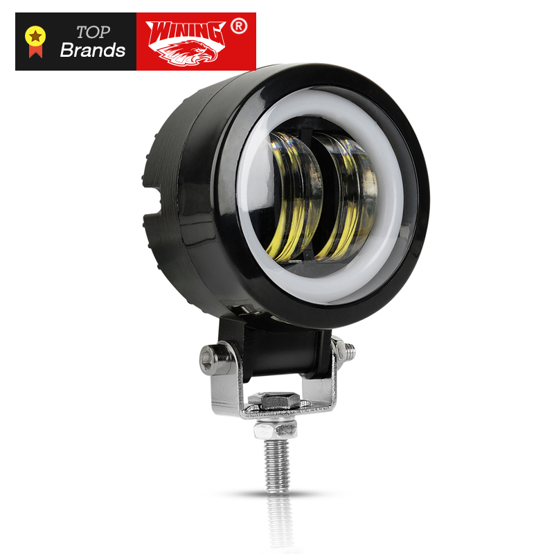 WINING 20W LED Driving Work Light for Trucks Off road Racing Lights Motorcycle led Spotlight Flood