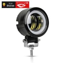 Обедайте 20 W светодиодный вождения свет работы для самосвалов Off road Гонки огни Светодиодный фонарь для мотоцикла прожектор Янтарный туман лампы