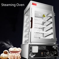 220V Electric Stainless Steel Bread Making Machine Surrounded Toughened Glass Commerical Bun Bread Steamer Bread Maker