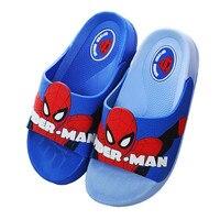 Summer Baby Girls Boys Indoor Slippers Children Pvc Rubber Cartoon Spiderman Toddler Kids Home Bathroom Sandal