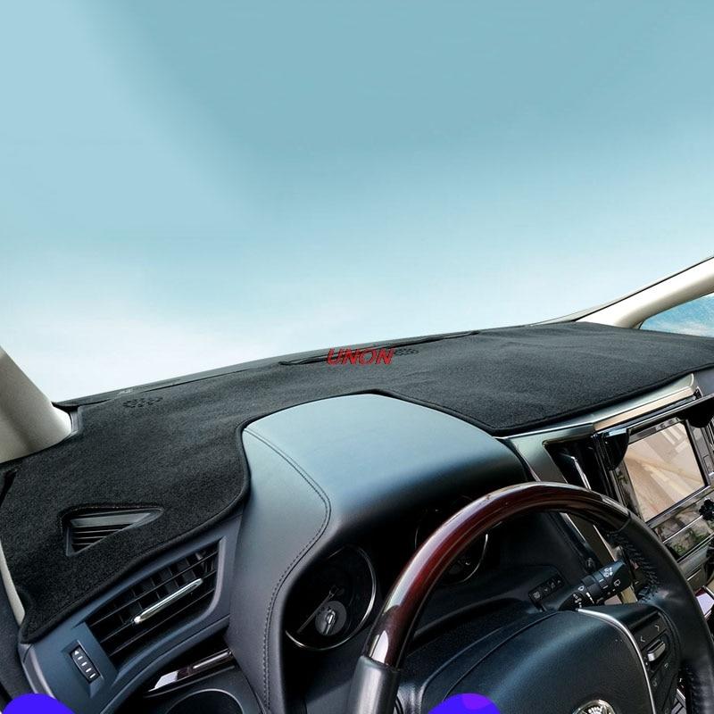 Voiture tableau de bord tapis couverture tapis Pad Auto ombre coussin couvre protecteur pour Toyota Alphard Vellfire 30 2016 2017 2018 accessoires