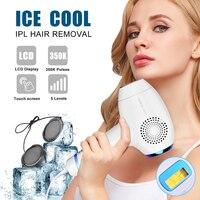 Холодное ощущение IPL постоянное удаление волос на теле 350000 мигает интенсивный пульсирующий свет эпилятор подмышки, бикини устройство для э
