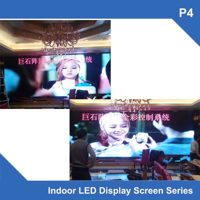 TEEHO 6pcs/lot P4 Free Sending card indoor simple Cabinet led display 512mm*512mm 1/16 scan module fixed installation video ledTEEHO 6pcs/lot P4 Free Sending card indoor simple Cabinet led display 512mm*512mm 1/16 scan module fixed installation video led