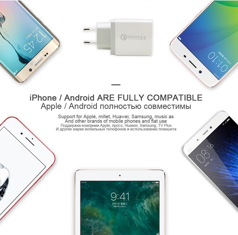 Cargador rápido USB de carga rápida QC 3.0 para iPhone X XS 6 6S 7 - Accesorios y repuestos para celulares - foto 4