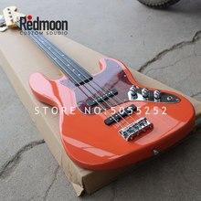 Завод на заказ 4 струны джаз бас гриф из черного дерева электрический бас гитара музыкальный инструмент магазин