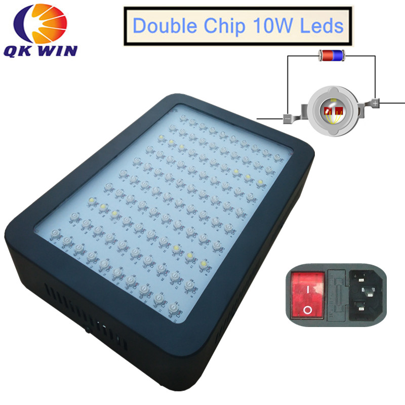 Qkwin 1000W LED Grow Light 100x10W with on/off button Full Spectrum Grow Lights For Indoor Plants Flowering And Growing best led grow light 600w 1000w full spectrum for indoor aquario hydroponic plants veg and bloom led grow light high yield