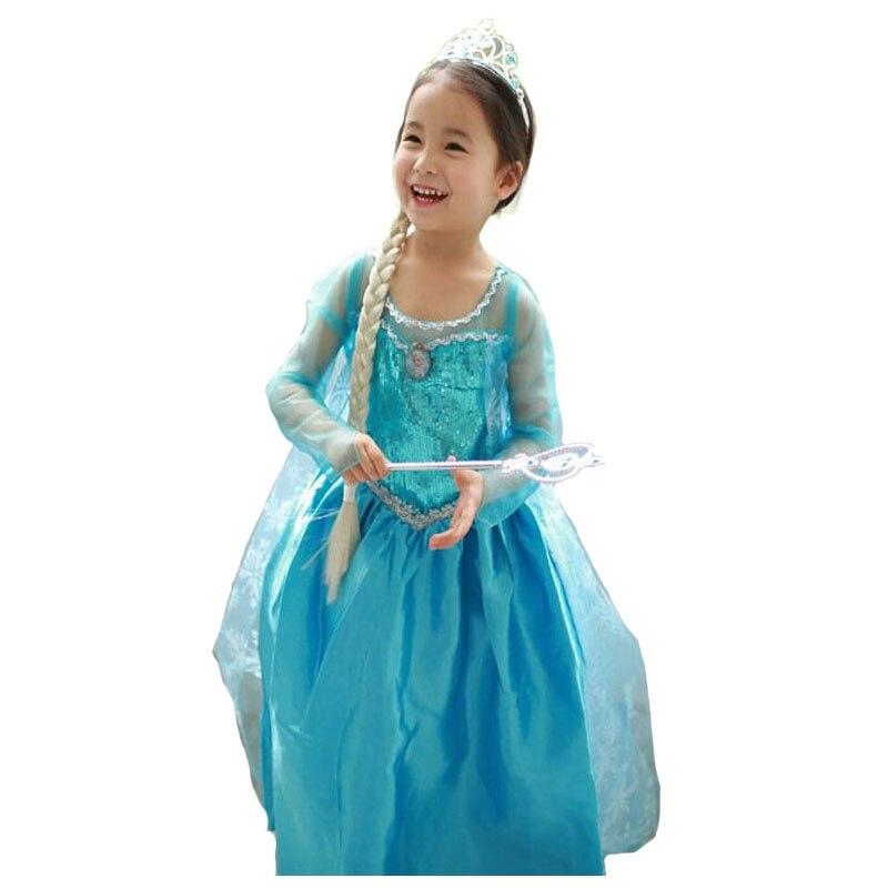HTB1FK.6borrK1RkSne1q6ArVVXaf 2019 New Elsa Dress Girls Summer Dress Princess Anna Cosplay Costume Dresses For Girl Princess Vestidos Menina