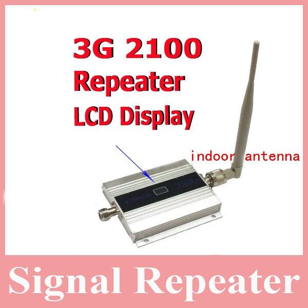 Antenne intérieure + affichage LCD 3g booster de signal! Répéteur de signal mobile 3G wcdma 2100 mhz, amplificateur de signal 3g pour téléphone portable