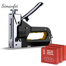 Manual Nail Staple Gun Nailers Rivet Tool Rivet Gun Kit Furniture Stapler For Wood Door цены