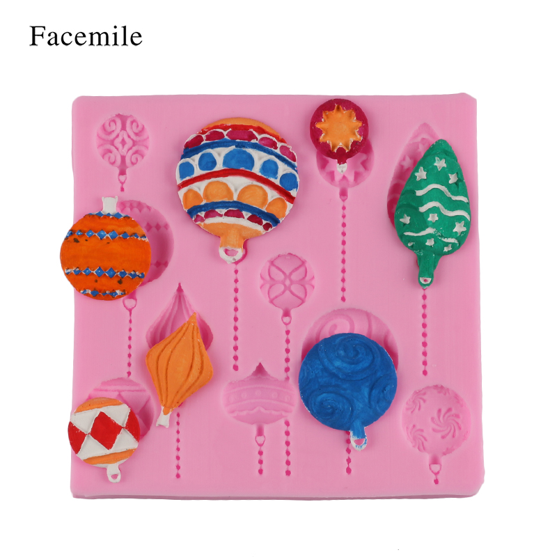 Facemile Christmas DIY Balloon Cake Border Fondant Gum