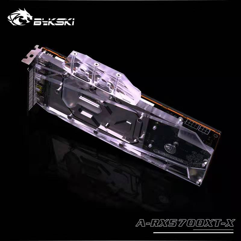 Bykski uso de bloques de agua para AMD Radeon RX 5700/5700XT Tarjeta de GPU/cubierta completa bloque de radiador de cobre/ 3PIN 5V A-RGB/4PIN 12V RGB - 3