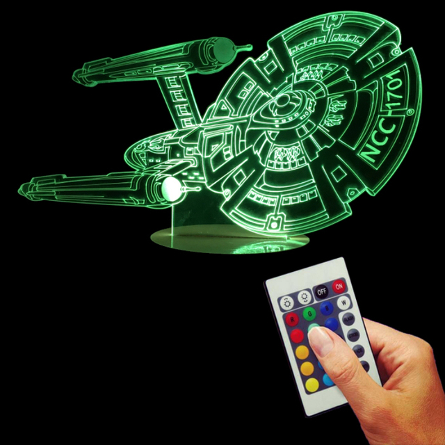 Star Trek Optical illusion LED Desk Lamp