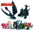7 pçs/set Anime Como Treinar O Seu Dragão 2 Action Figure Toys Fúria Da Noite Desdentado Dragão Figuras PVC Brinquedos para meninos