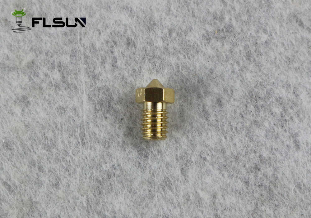 10 Pcs/lot 3D Printer Nozzle Berbagai Ukuran 0.4 Mm Print Head untuk 1.75 Mm Filamen