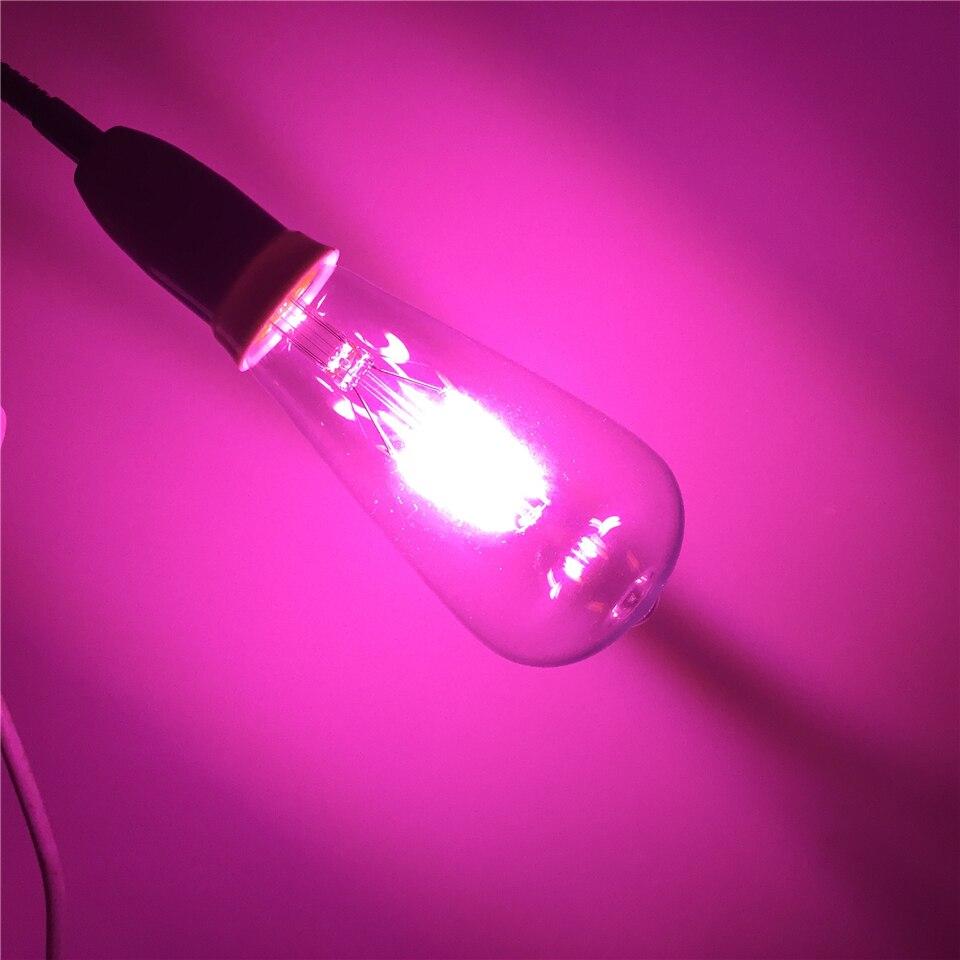 E27 LED RGB AC220V 4 W ST64 Edison ampoules Lampada verre Transparent ampoules à économie d'énergie rétro lampe à LED ampoule à Filament - 2