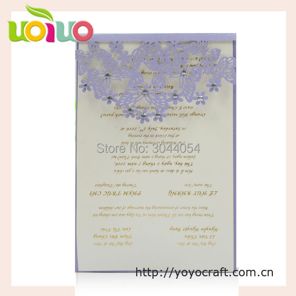 Thank You Letter For Wedding Invitation: Wedding Souvenirs Simple Laser Cut Butterfly Menu Card