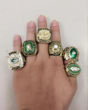 Envío Libre 1961 1965 1966 1967 1996 2010 GREEN BAY PACKERS SUPER BOWL CAMPEONATO ANILLO Replica 6 unids Conjuntamente con
