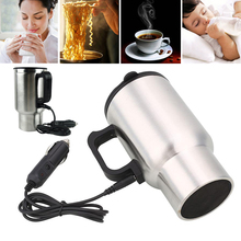 Car Coffee Tea Drinks Electric Heated Cup 450ML Thermos Thermal Insulated Mug Home Kitchen Accessories