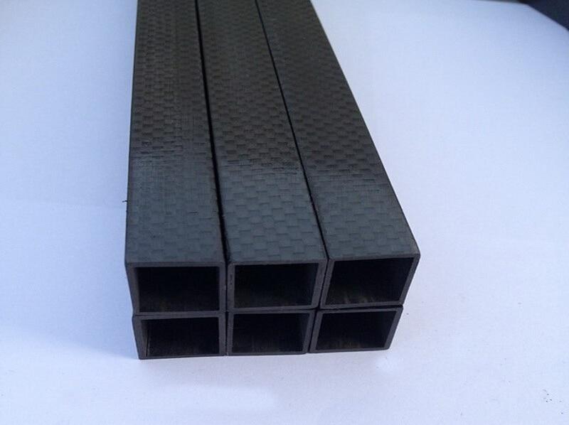 Carbon fiber tube  25X25X23X600mm High Glossy 3K Carbon Fiber Fabric Square Tubes for RC Models 1pcs carbon tube black 50 52 4mm 3k glossy 500mm long100