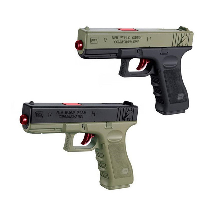 2pcs Plastic Gel Ball Gun Glock 17 1911 Water Bullets Boys Toys Gun Weapon Pistol Accessories Gun Case Outdoor Game Kids Gifts
