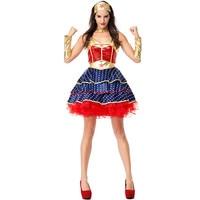 Halloween Dawn Of Justice Superhero Wonder Woman Cosplay Costume for Adult Fancy Dress