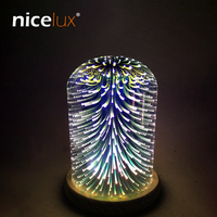 3D Magic LED Glass Lampshade Night Light USB 5V Atmosphere Bedroom Table Nightlight Creative Decoration Night Lamp