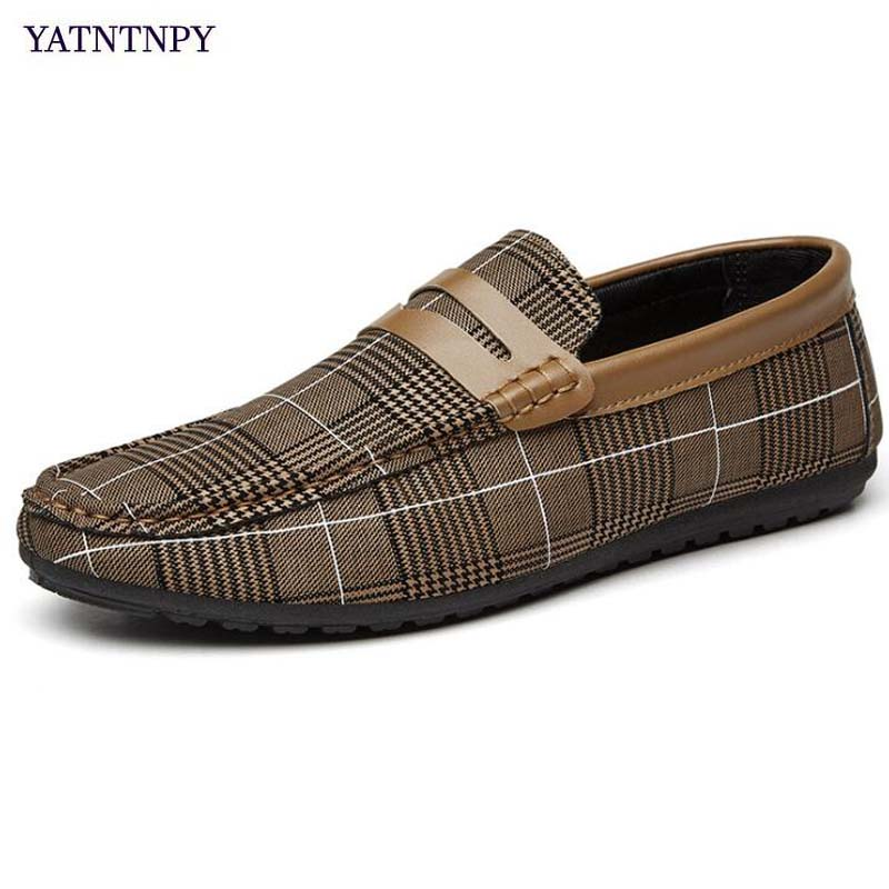 YATNTNPY New Arrival Comfort Men Flat shoes Casual Canvas Sapatos Loafers Man Moccasins slip-on leisure sneakers espadrilles