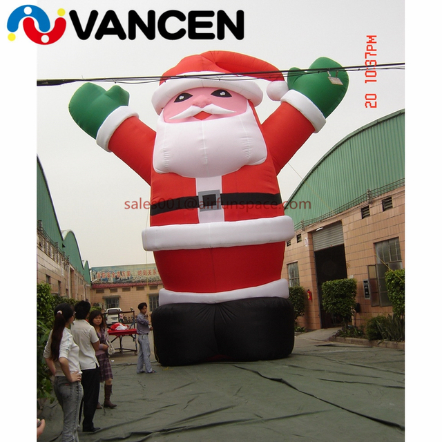 Giant oxford cloth inflatable christmas old man for advertisement mascot santa claus inflatable christmas decoration for square