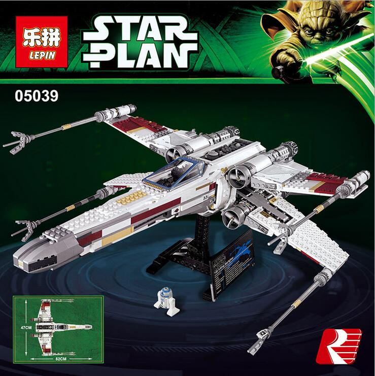 ФОТО LEPIN 05039 Star Wars Series The Red five X-Wing starfighter Model Building Blocks Classic Compatible 10240 Toys for children