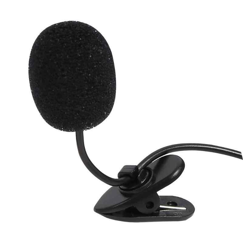 Micrófono de Audio de coche de 3,5mm plástico estéreo Jack micrófono externo estéreo o coche reproductor de DVD GPS Radio Audio micrófono