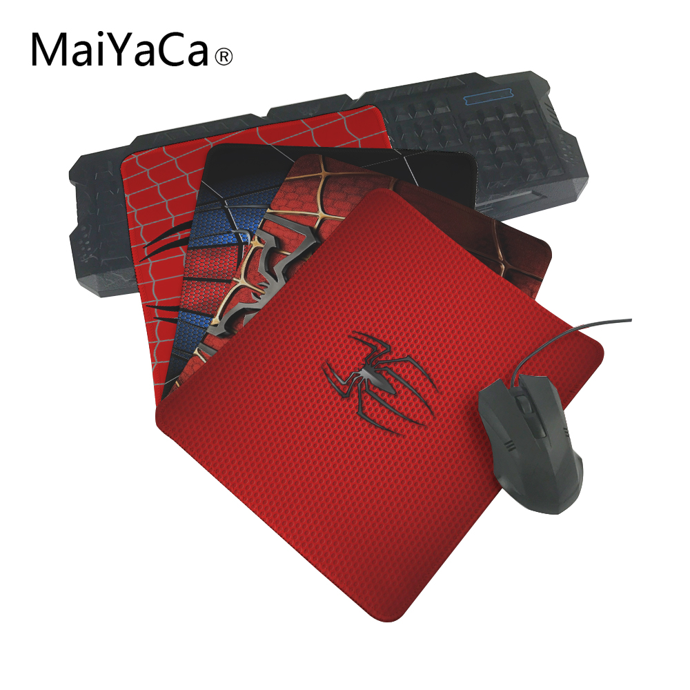 MaiYaCa Cool Hipster Top Selling Spiderman Anti-slip Mousepad Computer Mouse Pad Mat For Optal Me Trackball Mouse