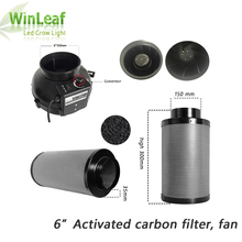 6 Inch Centrifugaal Fans & Activated Carbon Luchtfilter voor GreenHouse Kweektent Hydrocultuur LED HPS/MH Groeien Licht