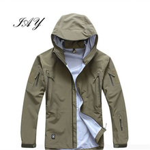 Männer Casual Military Style Wasserdicht und Winddicht & Hardshell hombre mantel Tactical Camo Armee Grün Equitment Mantel