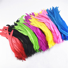 50Pcs Rooster Tail Feather 30-35cm 12-14inch Natural Feathers For Crafts Wedding Decoration Clothing Accessories Plumes