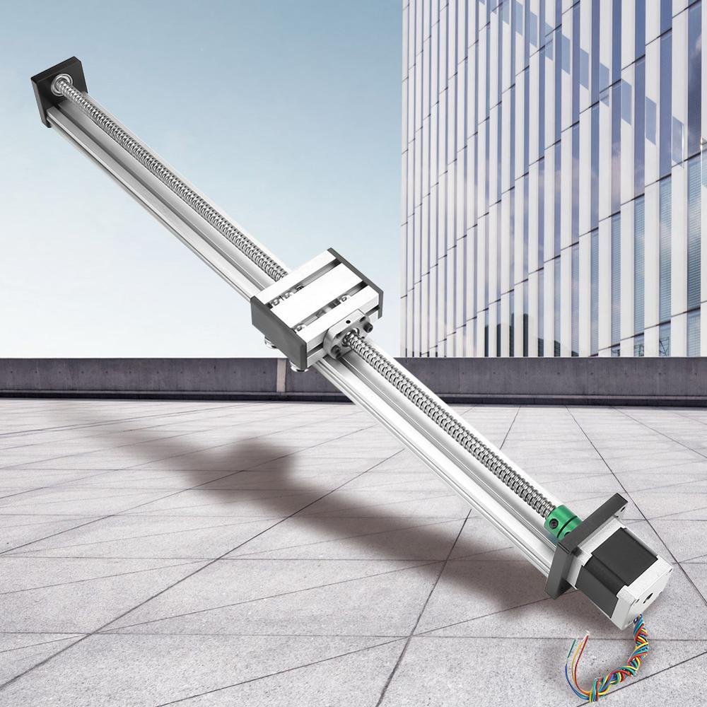 1204 Ball Screw Linear Slide Rail Set Long Stage Actuator Stroke 500mm 42 Stepper Motor Linear